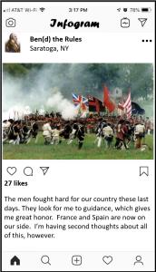 SAMPLE - Benedict Arnold Battle of Saratoga Post